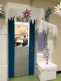 My winter wonderland classroom door ran over to the speech