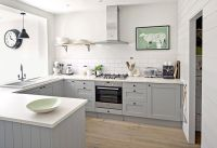 Design Item: Kitchen of the Week: serene, painted and grey ...