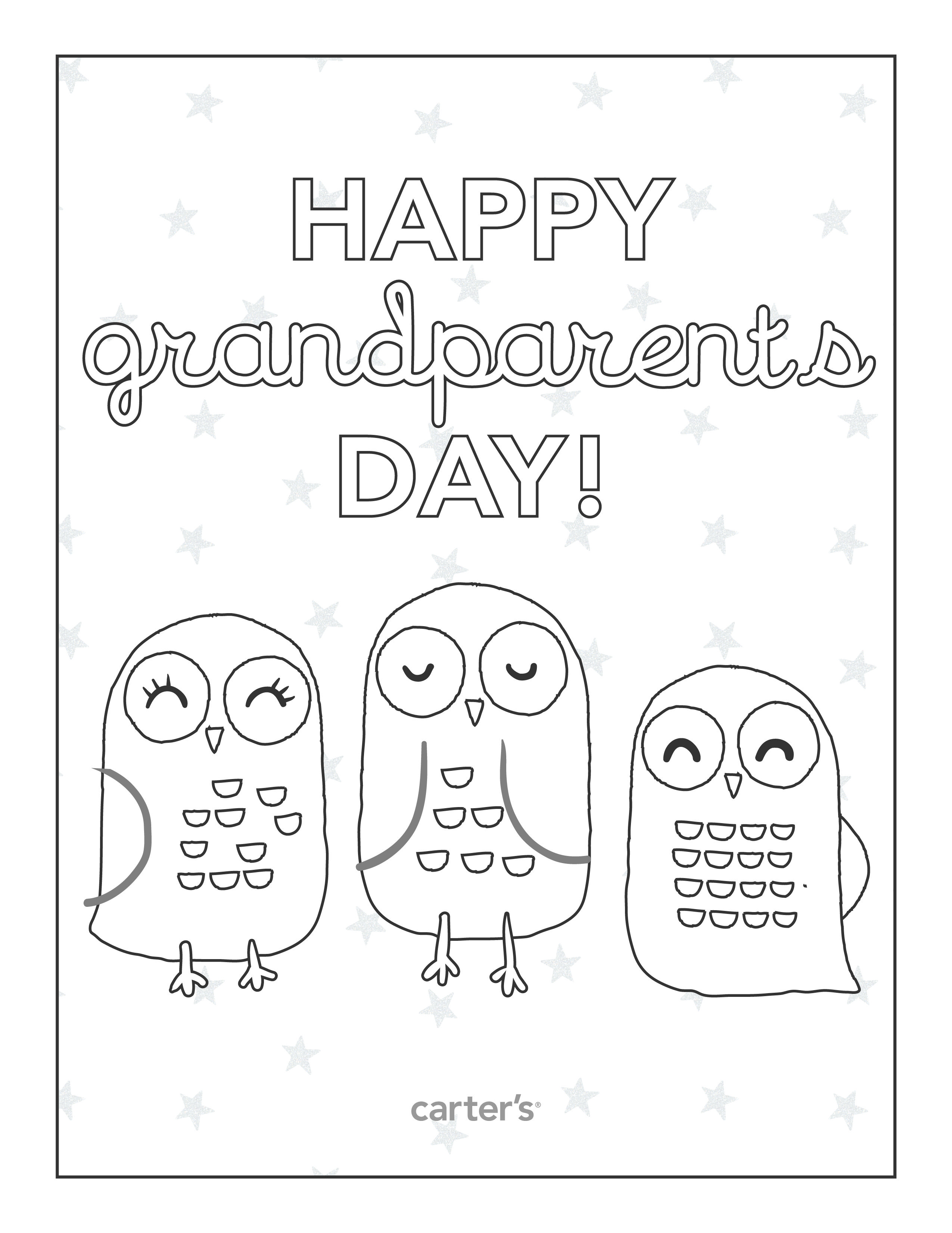 Free printable grandparents day coloring pages from carter s