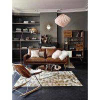 Canap 3 places en cuir marron cognac | Maison du monde ...