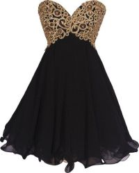 Dress Idea 3 ..love the black/gold combo | Allison ...