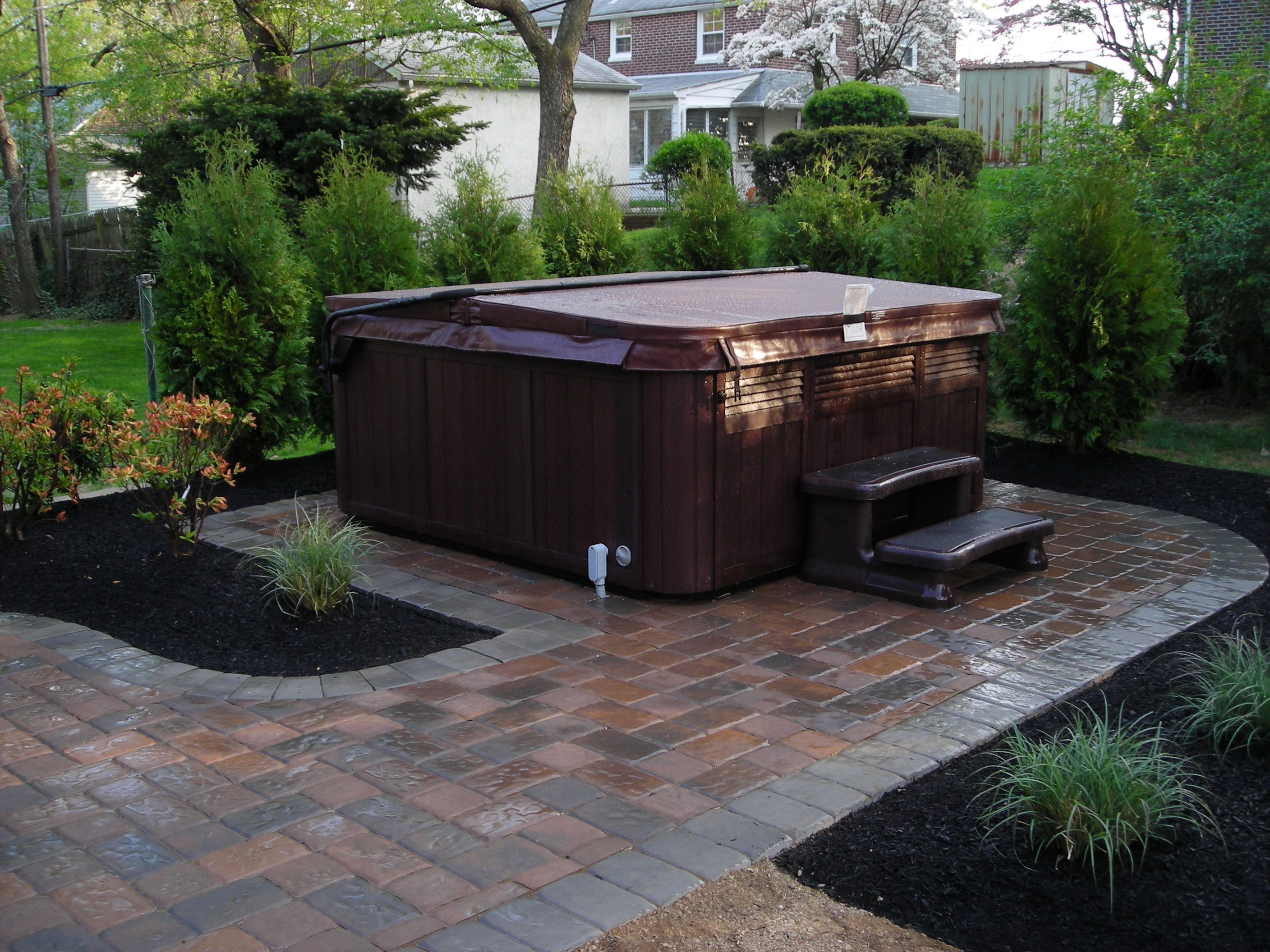 Paver driveway walkway and patio ideas hot tubs
