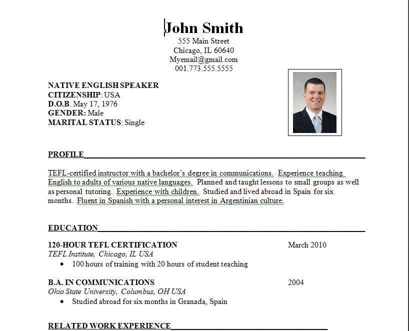 resume samples education