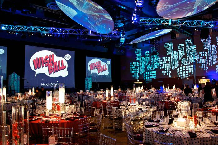 Mottoparty James Bond Superhero Backdrop Stage | Superhero Themed Party Planner