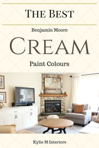 The Best Cream Paint Colours: Benjamin Moore | Cream paint ...