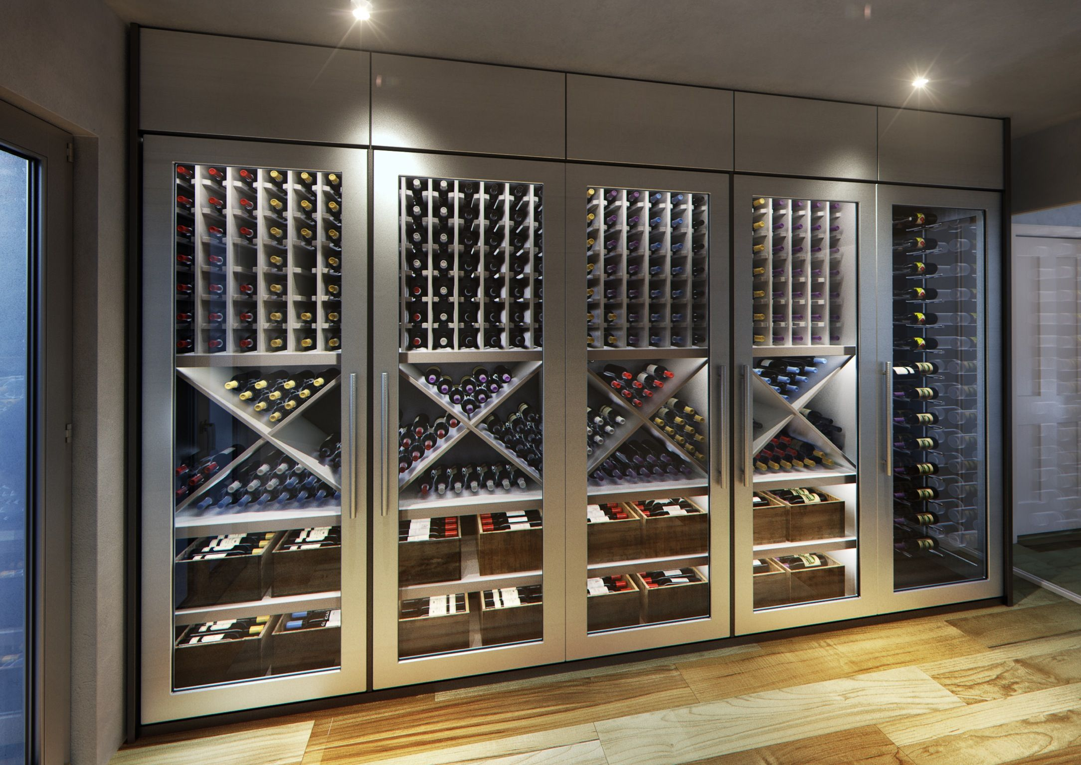 Wine Wall Display Racks Another Magnificent Custom Contemporary Wine Cellar