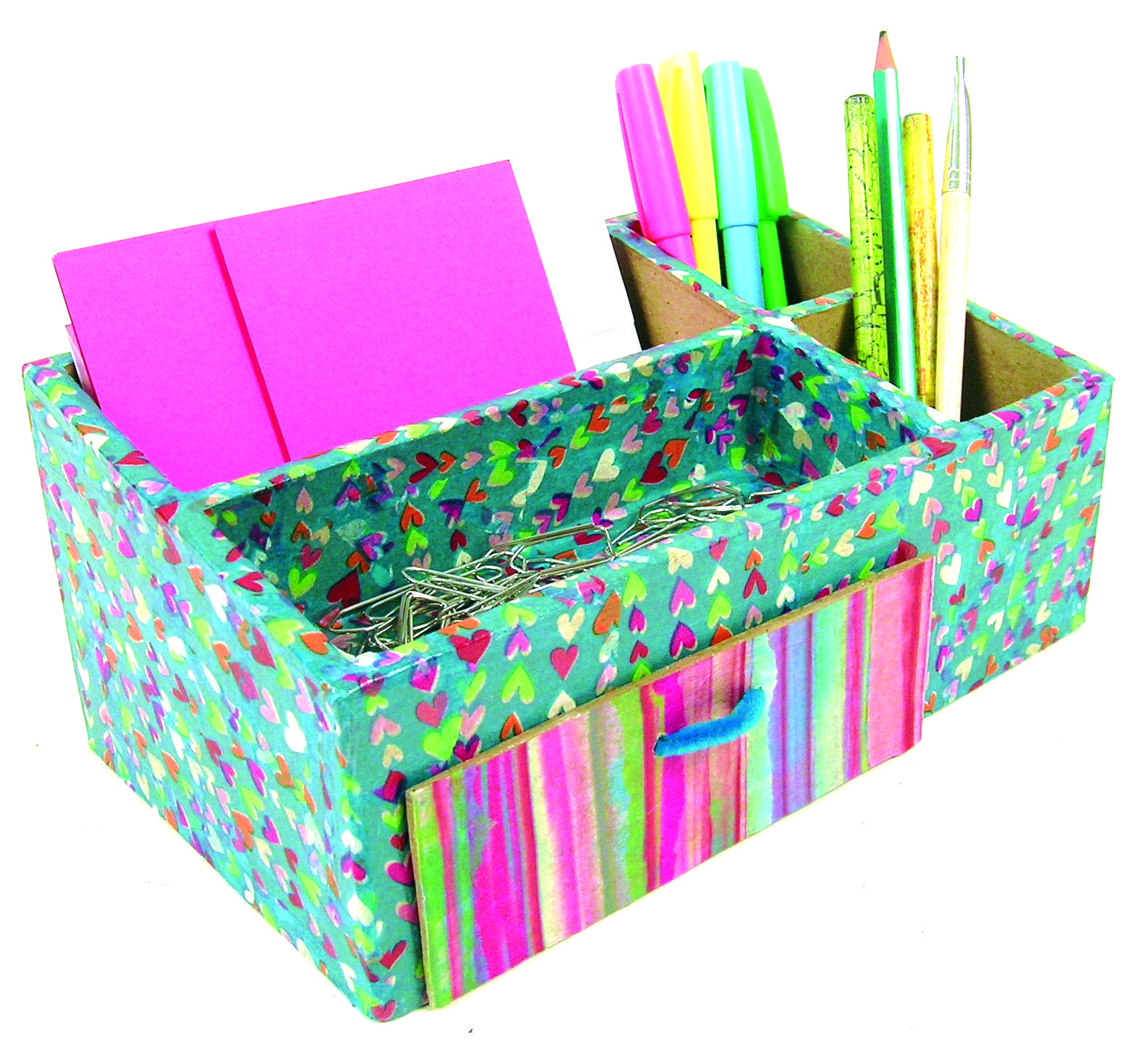 Decopatch Muebles Organise Your Desk With A Decopatch Decoupage Table Tidy