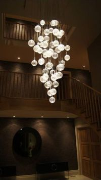 Entrance Chandelier? Glass Chandeliers - Contemporary LED ...