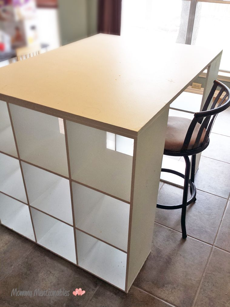 8 Cube Organizer Ikea Diy Craft Table. How To Make A Craft Desk With Cubicles