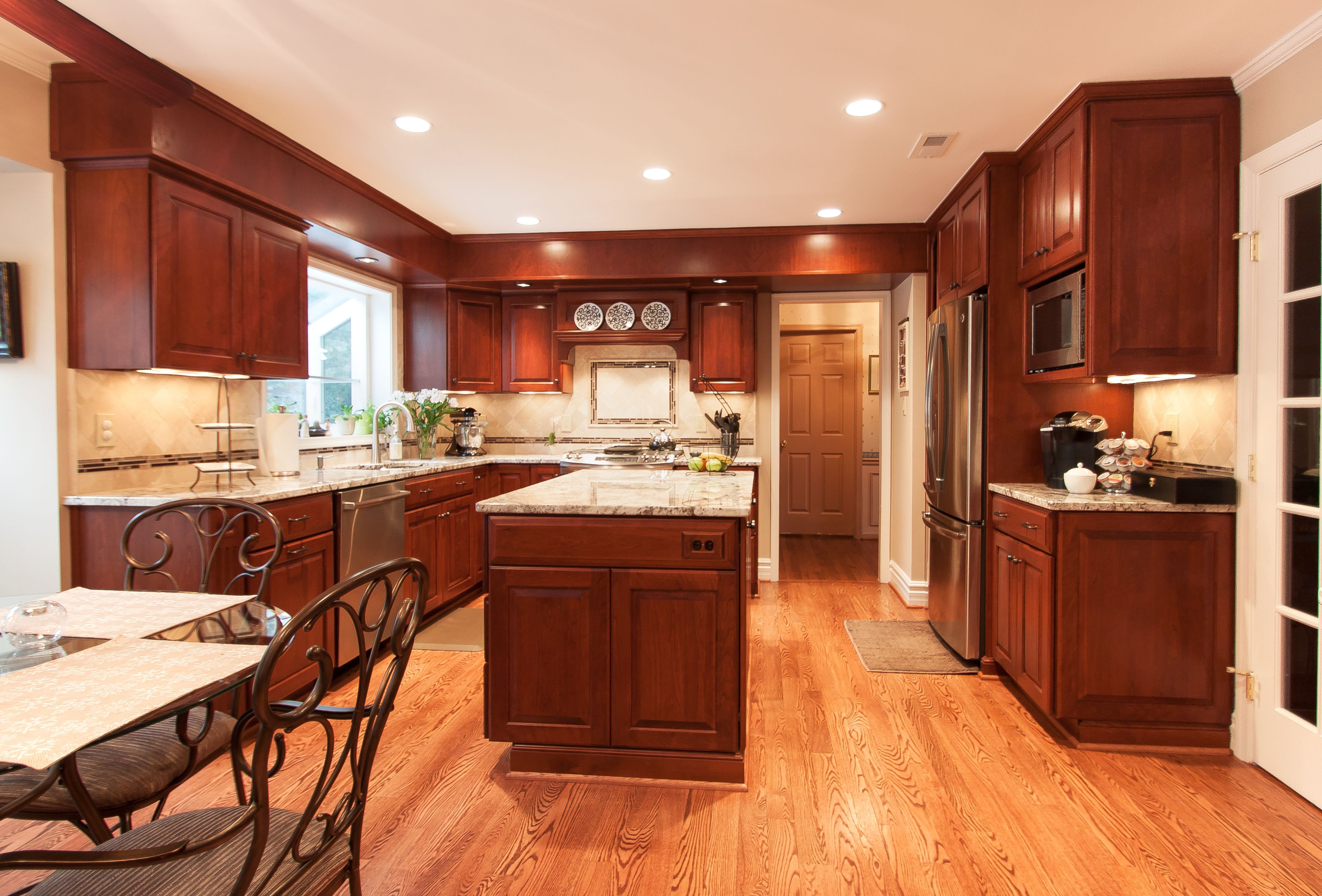Kitchen Cabinets Cherry Wood Custom Kitchen Remodel Honey Brook Custom Cabinets In