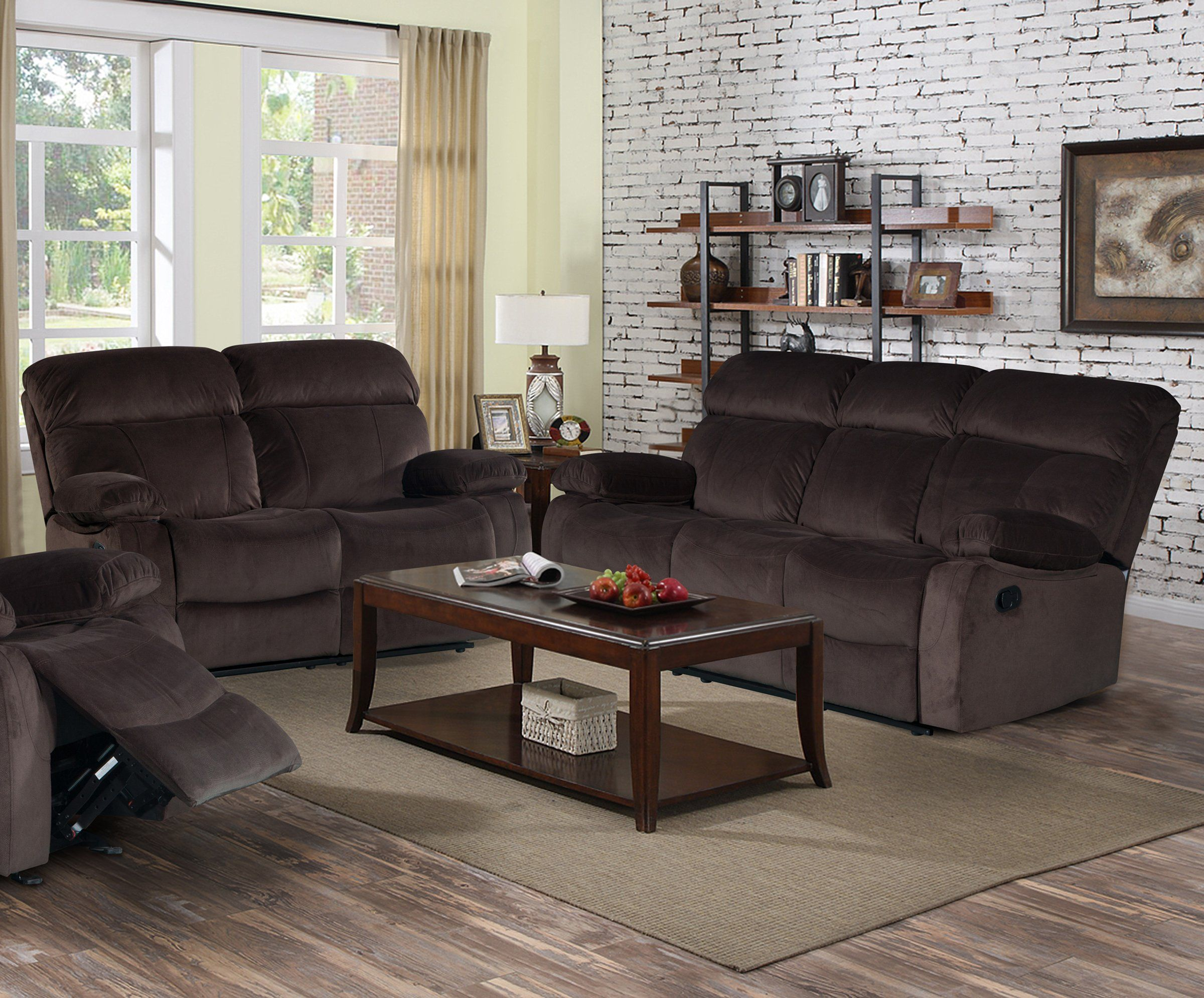 Chocolate Corduroy Sofa Izabella Dark Chocolate Corduroy 2 Pc Reclining Sofa And Loveseat