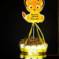 Lion King-Simba Baby Shower Centerpiece.. DIY Diaper Cake ...