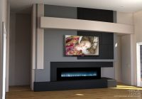 Modern home entertainment media wall design with ...