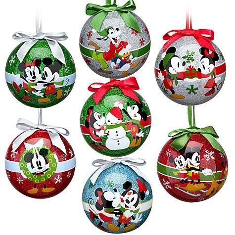 Disney Share the Magic Mickey Gang Christmas Ornament Set 7-Pc - disney christmas decorations