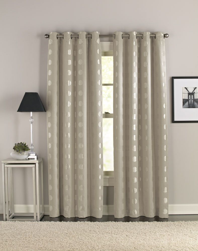Cosmic modern grommet curtain panel curtainworks com great source for inexpensive window treatments