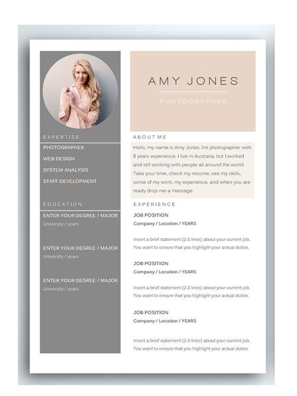 https\/\/creativemarket\/FortunelleResumes resume presentstion - amazing resume templates