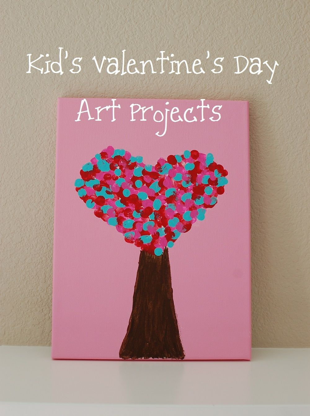 Kid s valentine s day art projects i think i can do this with thumb prints