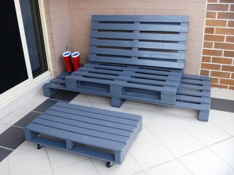 Mit Paletten können Sie tolle Lounge-Möbel ganz einfach bauen - holz mobel aus europaletten bauen
