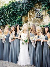 Romantic Fall Wedding Among the Redwoods | Grey bridesmaid ...