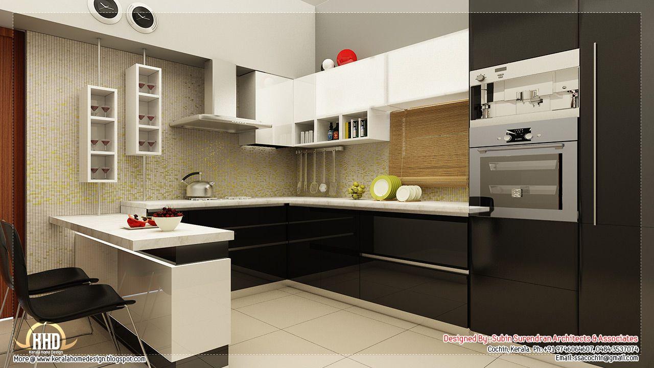 Beautiful home interior designs kerala home design floor plans kitchen interior designs contact house design