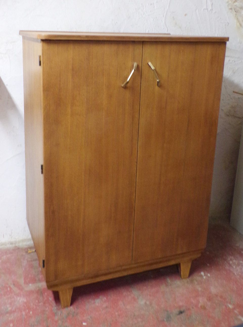 Commode Bois Buffet Commode Bois Massif 1960 Mid Century Commode Rétro