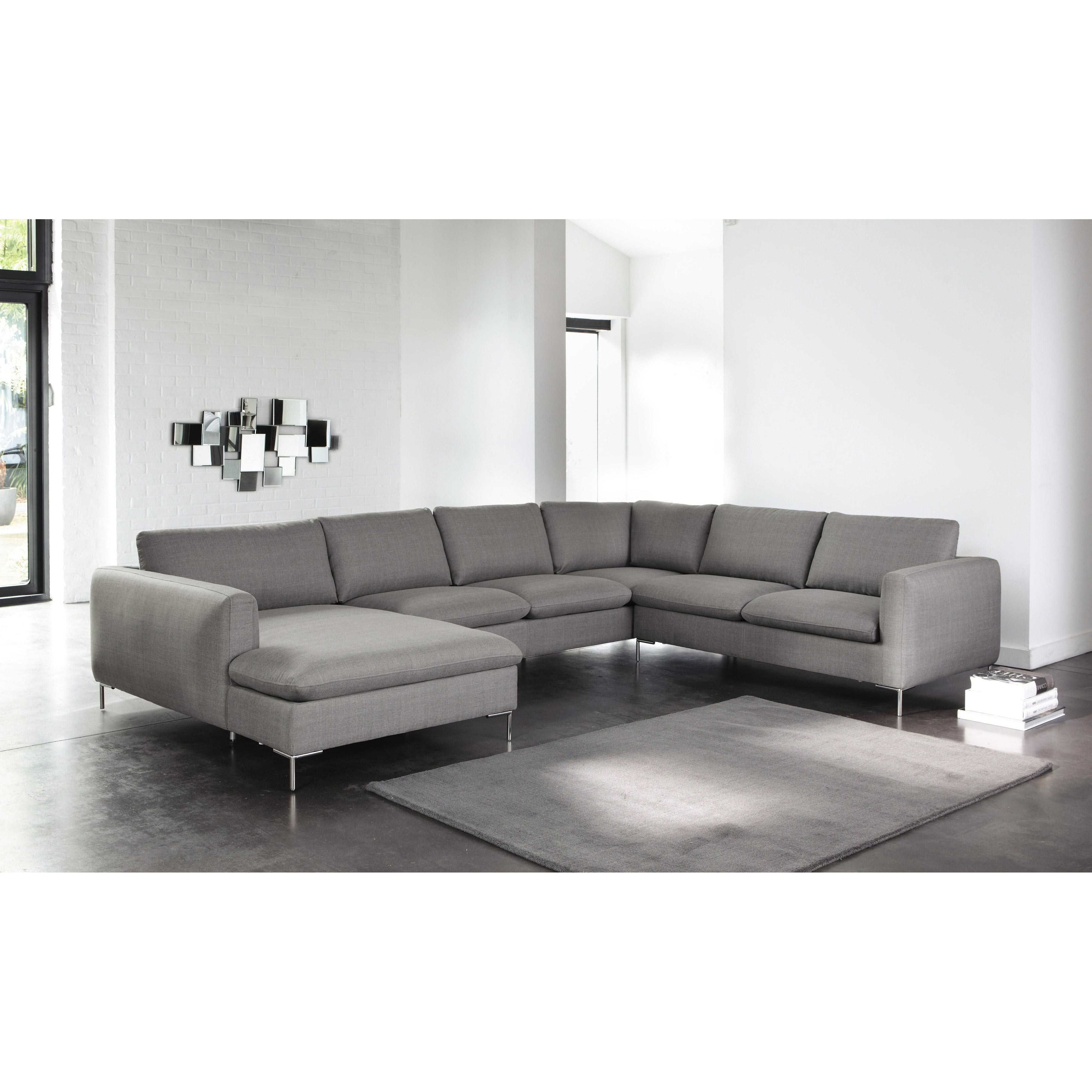 Maison Du Monde Chaise Longue Fabulous Seater Fabric Corner Sofa In Light Grey City