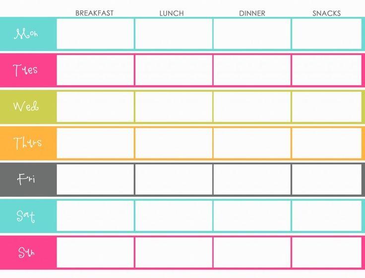7 Ways to Stop Mindless Eating Weekly menu printable, Weekly - weekly menu