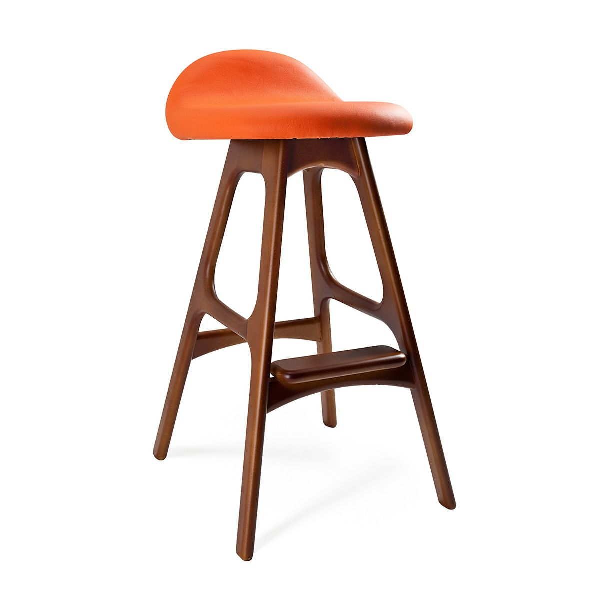 Contemporary Breakfast Bar Stools Mid Century Inspired Bar Stool Orange Dotandbo I