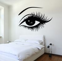 Vinyl Decal Wall Decal Woman's Eyes Sexy Girl Bedroom ...