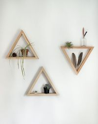 DIY Wooden Triangle Shelves | Triangle shelf, Triangles ...