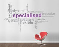 Word Cluster wall sticker | Word clouds, Office walls and ...