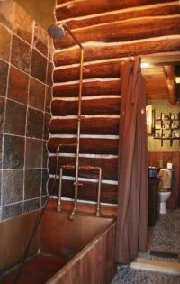 Exposed copper shower fixtures | Patina Farm Inspiration ...