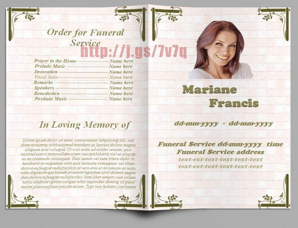 Memorial Programs in Spanish Funeral Program Templates for MS - program for a funeral
