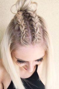 18 Dazzling Ideas of Braids for Short Hair | Simple braids ...