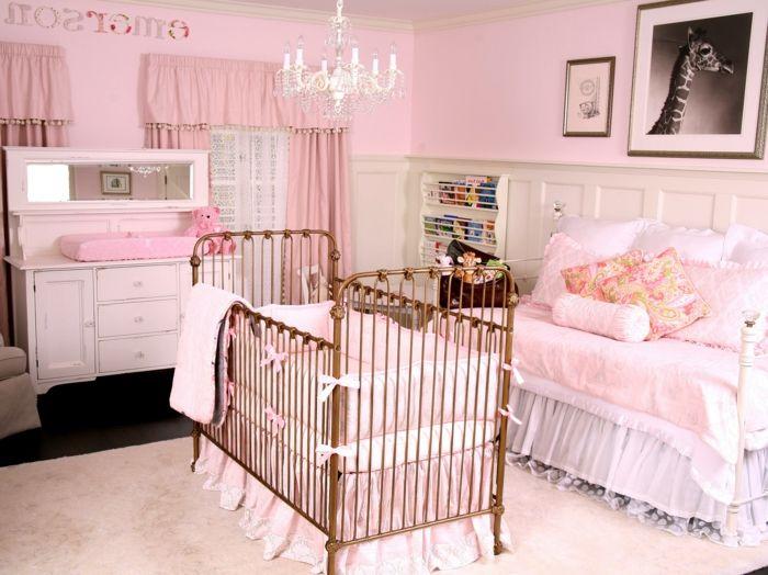 babyzimmer dekoration rosa zimmer für das baby mädchen gestalten - kinderzimmer gestalten madchen