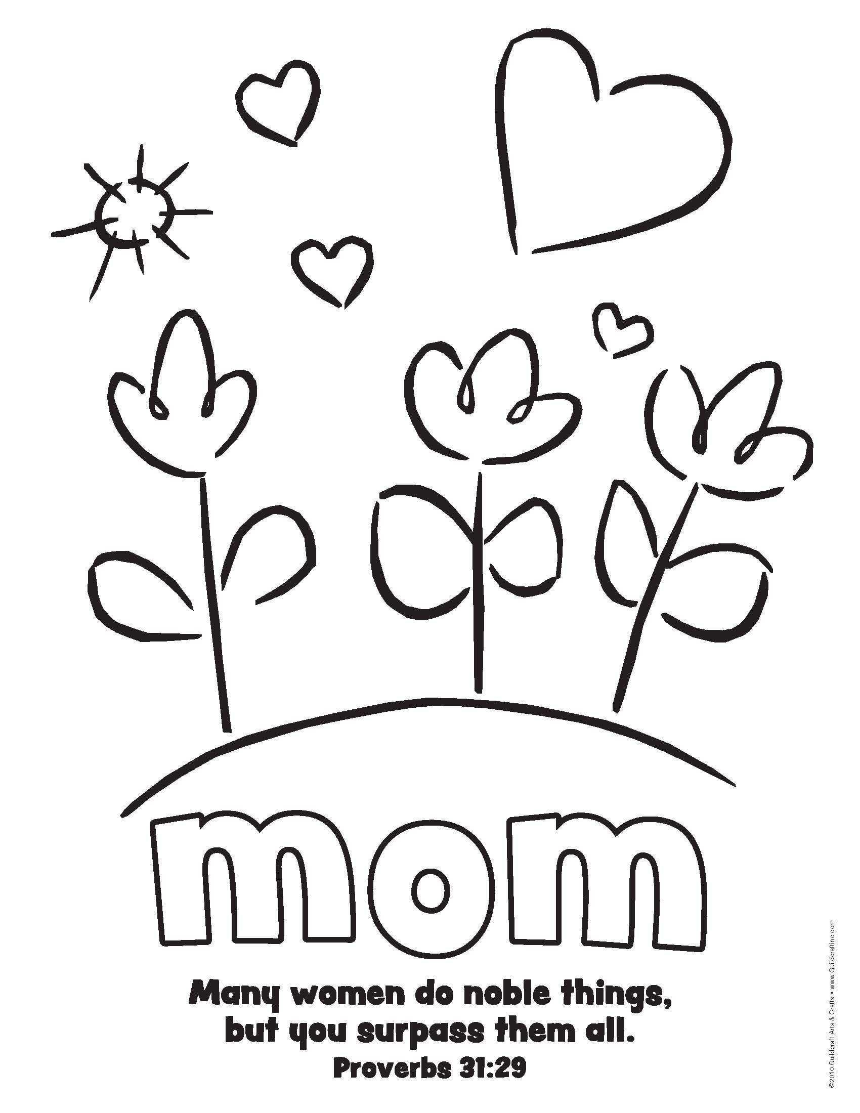 Share some lovely bond by painting some beautiful colors on these mothers day coloring pages