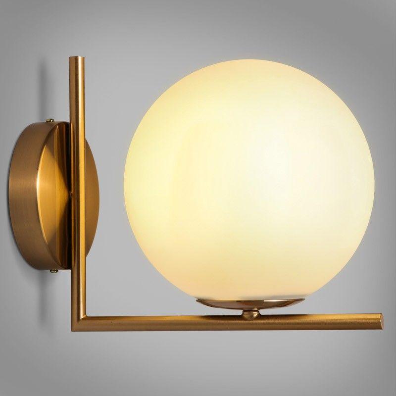 Cattel Simple White Globe Glass Shade Single