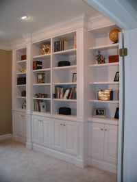 Built-In Bookcase around Fireplace Plans   286 CUSTOM-MADE ...