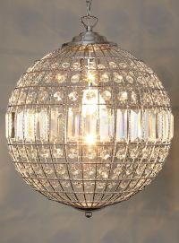 crystal globe pendant light   Roselawnlutheran