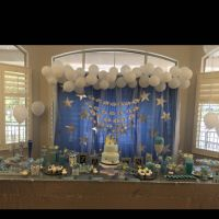 DIY babyshower Backdrop, Dessert Table. Twinkle Twinkle