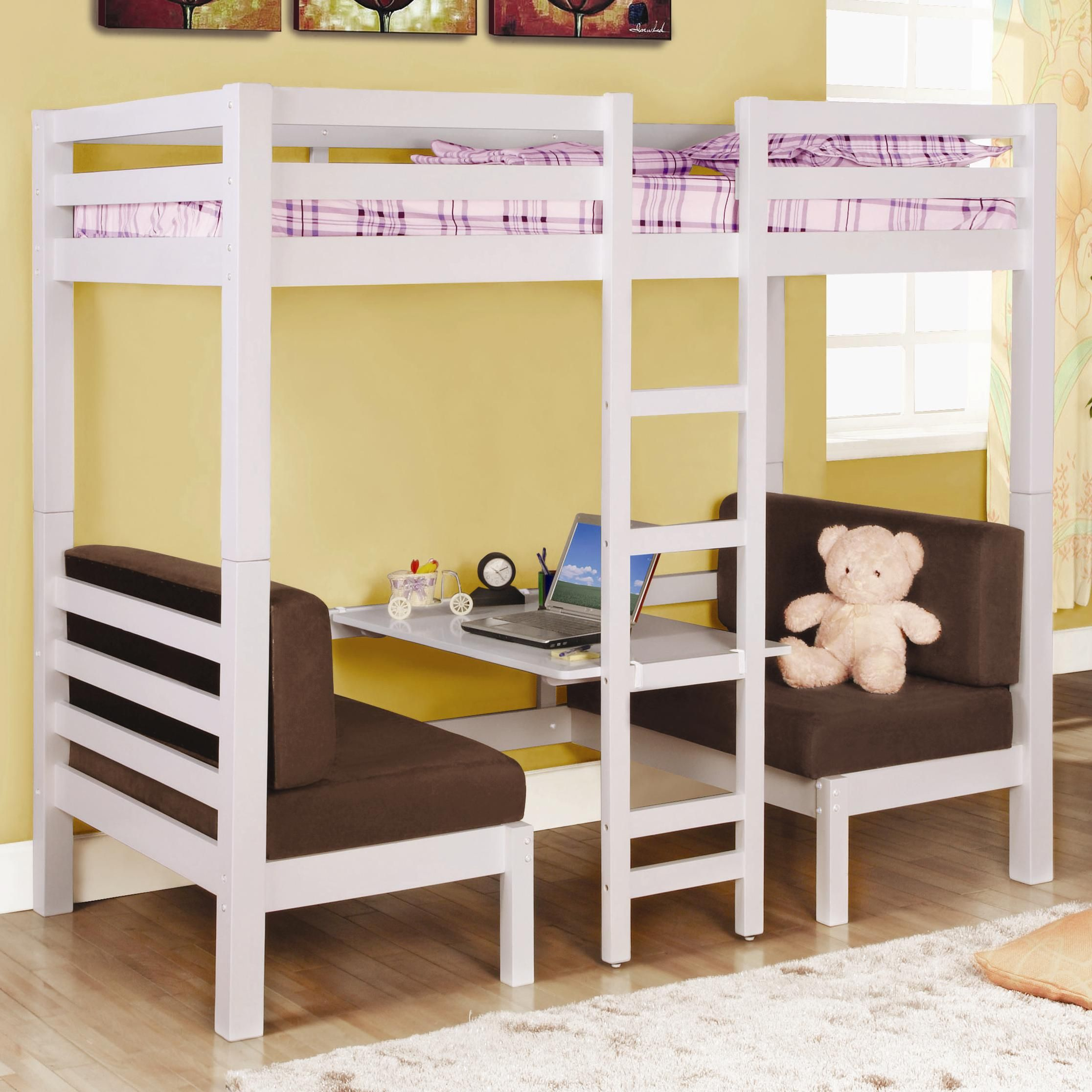 Cheap Bunk Beds Bunks Twin Over Twin Convertible Loft Bed By Coaster
