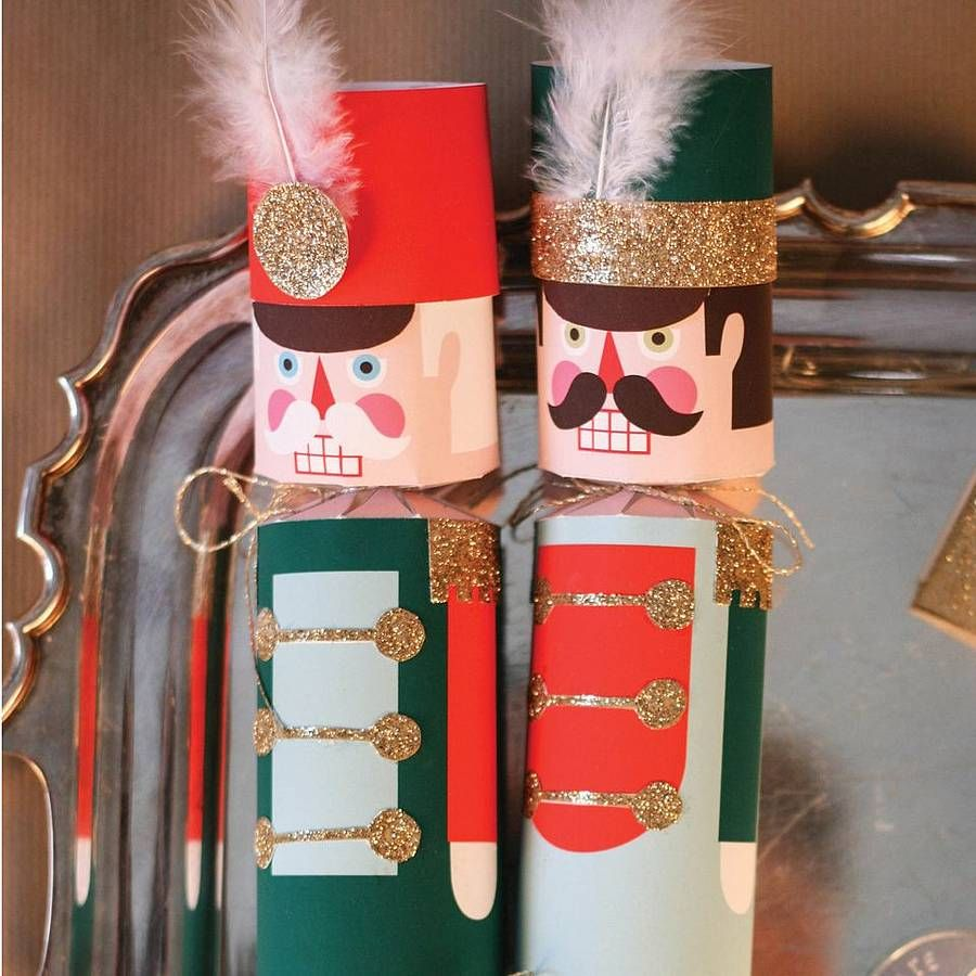 Nutcracker christmas cracker kit for 10 by little baby company notonthehighstreet com nutcracker craftsnutcracker christmaschristmas diychristmas