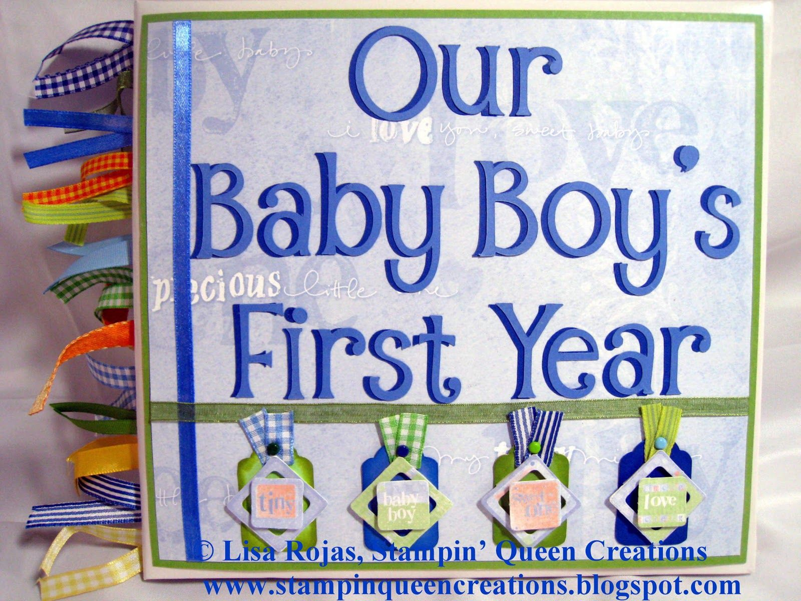 Baby boy scrapbook page ideas stampin queen creations our baby boy s first birthday