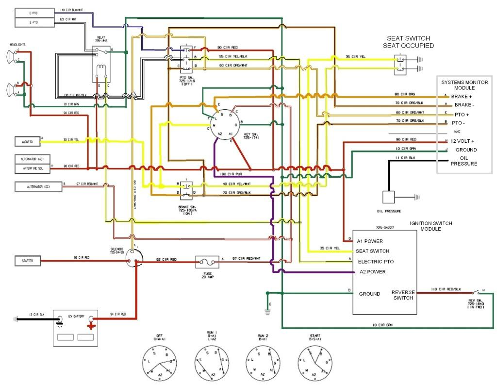 Craftsman riding mower electrical diagram re cub cadet lt1045 pto disengaging