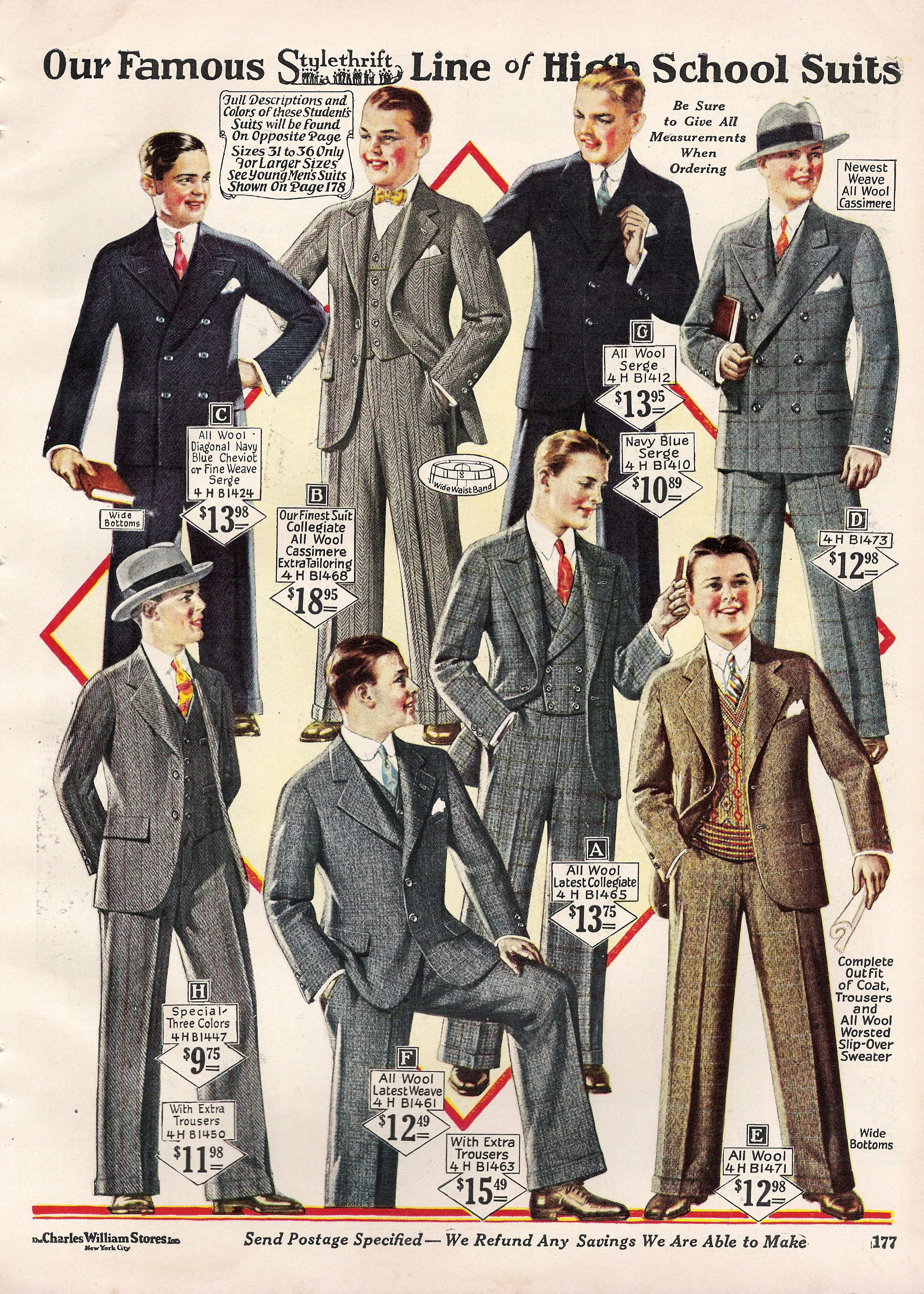 Anzug 20er Stil 1920's Teenagers Mens Fashion - Suit, Shoes, & Hats With