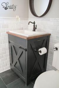 DIY Farmhouse Bathroom Vanity | Bathroom vanities ...