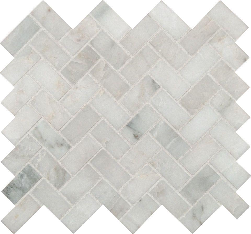 Herringbone Tile Pattern Backsplash