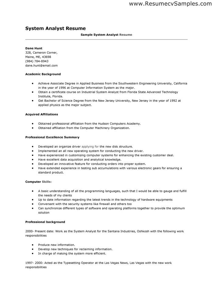 Data Analyst Resume Sample Donu0027t for get to write a resume when - data analyst resume