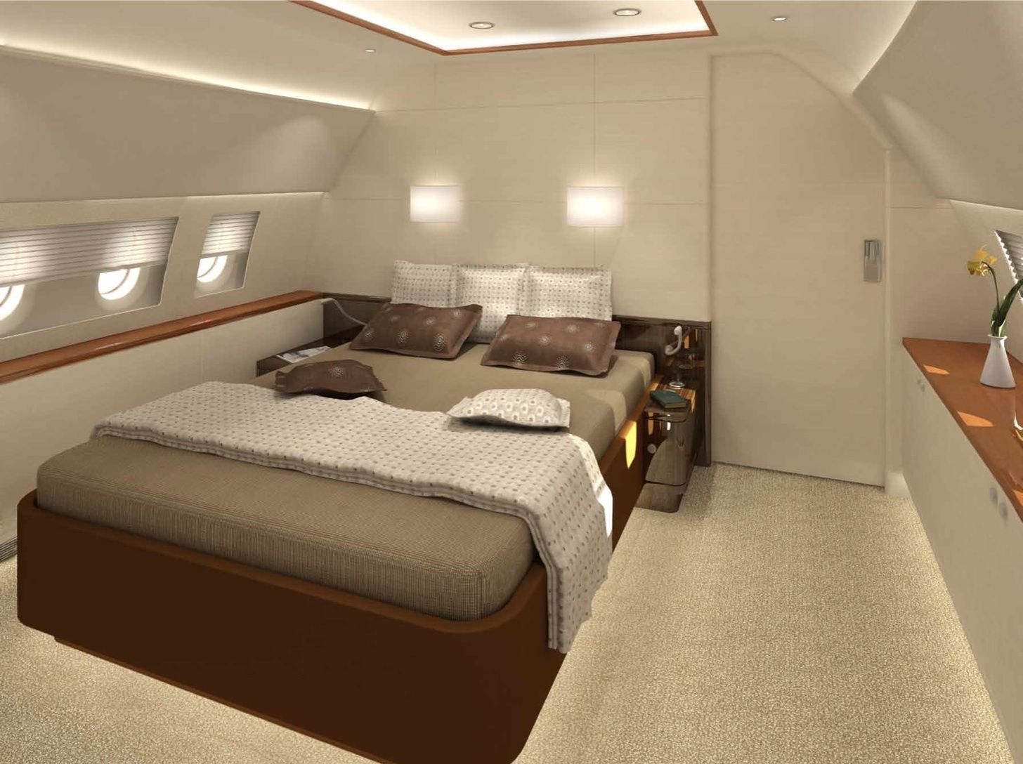 Airplane Bedrooms Private Jet Interior Design For Your Flying Mobile Home