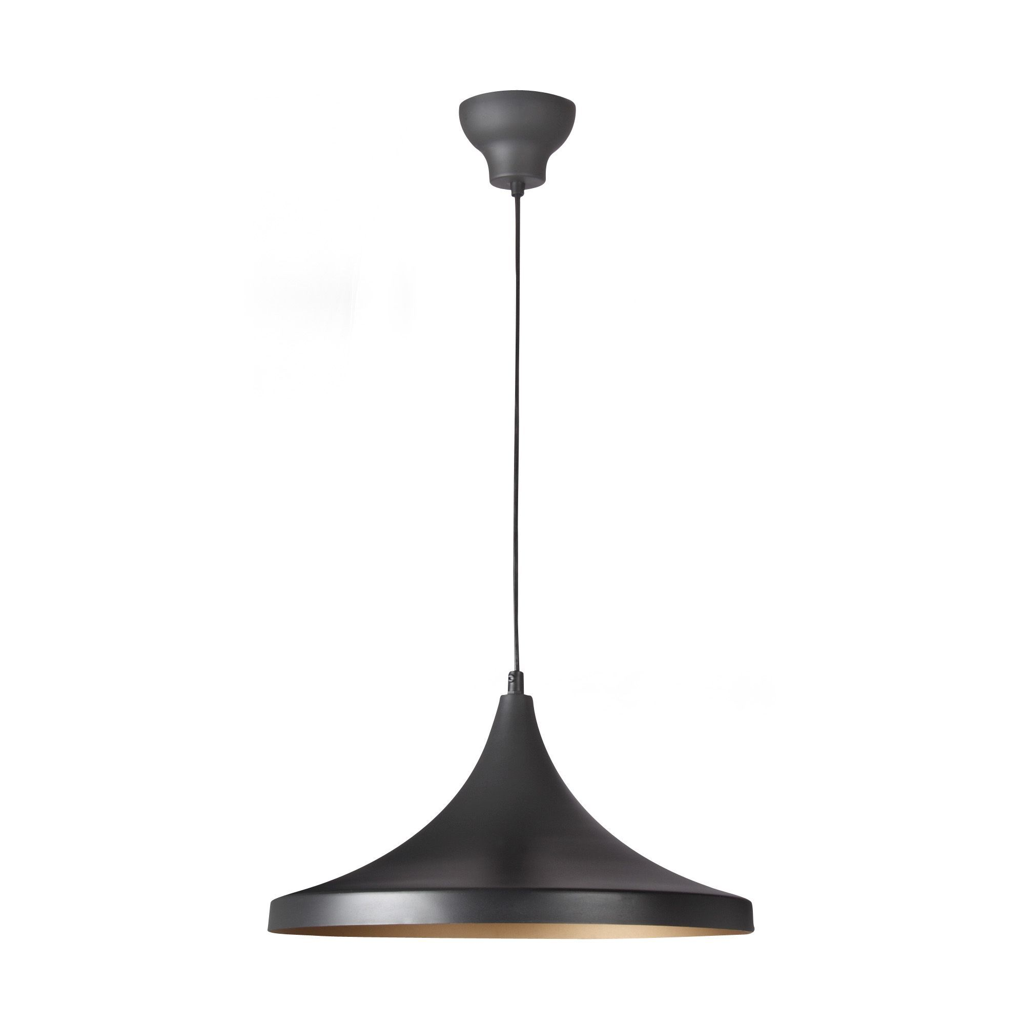 Suspension Luminaire Alinea Top Suspension Bicolore Noir Or Dcm Noiror Golden Les